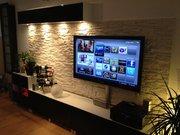 Навеска и установка теле-аудио аппаратуры на стену.